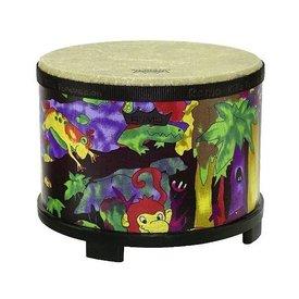 Remo Remo Kids Percussion Floor Tom 10 Diameter - Rain Forest Fabric