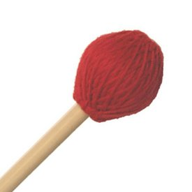 "Mike Balter Mike Balter 214B Chorale Series 17 5/8"" Medium Soft Red Microfiber Marimba Mallets with Birch Handles"