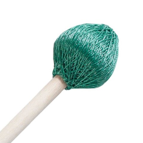 "Mike Balter 122R Super Vibe Series 15 1/2"" Hard Green Polyester Vibe Mallets with Rattan Handles"