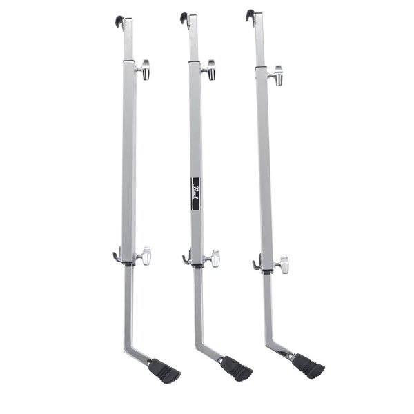 Pearl Pearl Multi-Fit Bass Drum Legs , Height and Tilt Adj, Set of 3 Chrome