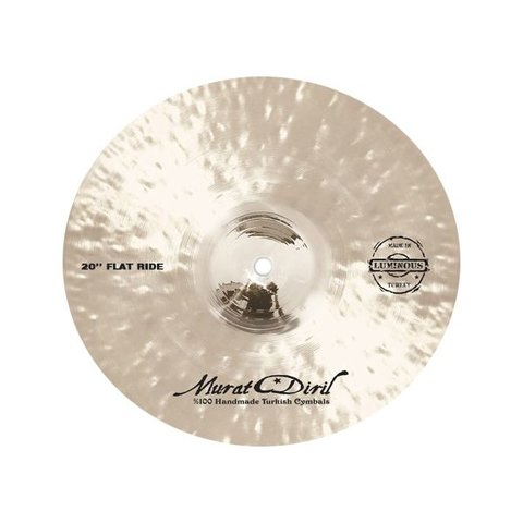 "Murat Diril Luminous Series 20"" Flat Ride Cymbal w/ Rivets"
