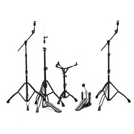 Mapex Mapex Mars Hardware Pack - Black Plated with P600 Single Pedal