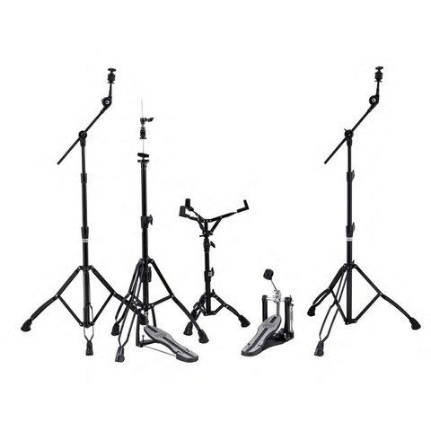 Mapex Mars Hardware Pack - Black Plated with P600 Single Pedal