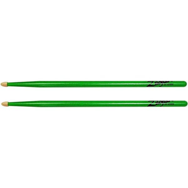 Zildjian Zildjian 5A Acorn Neon Green Wood Tip Drumsticks