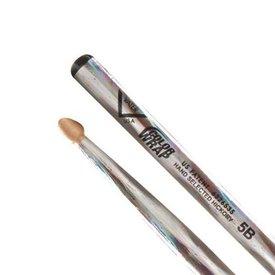 Vater Vater Color Wrap 5B Silver Optic Wood Tip Drumsticks