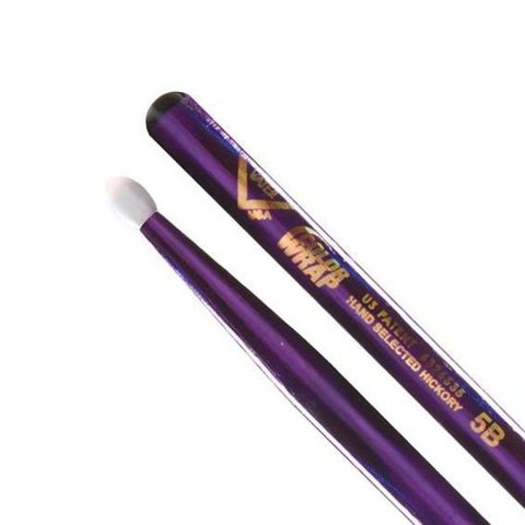 Vater Color Wrap 5B Purple Optic Nylon Tip Drumsticks
