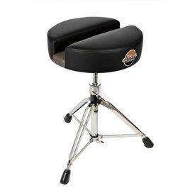 "Carmichael Throne 15"" Black Vinyl Tall Spindle Drum Throne"