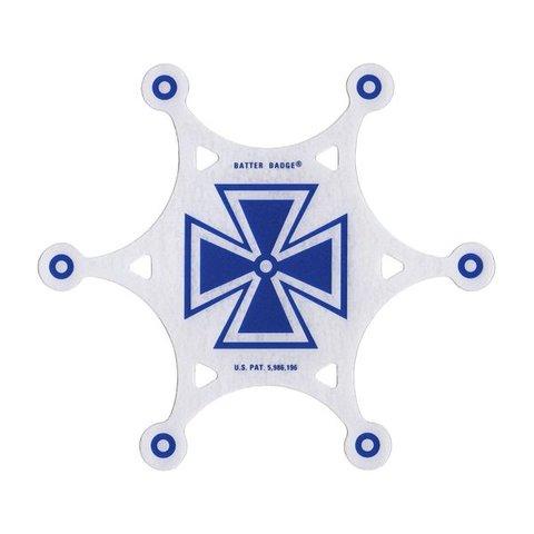 Slug Batter Badge Armourphragm Vented Impact Pad; Blue Baron Graphic