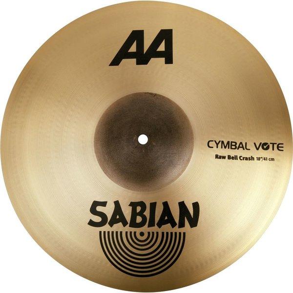"""Sabian Sabian AA 18"""" Raw Bell Crash Cymbal"""