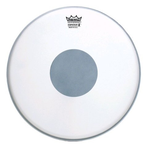 "Remo Coated Emperor x 14"" Diameter Batter Drumhead - Black Dot Bottom"