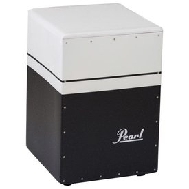 Pearl Pearl Brush Beat Boom Box Cajon (Textured Surface) Black/White Finish