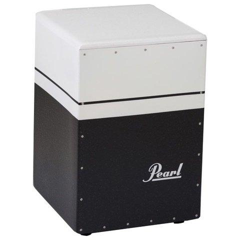 Pearl Brush Beat Boom Box Cajon (Textured Surface) Black/White Finish