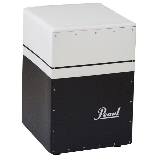 Pearl Pearl Brush Beat Boom Box Cajon (Textured Surface) Black/White Finish
