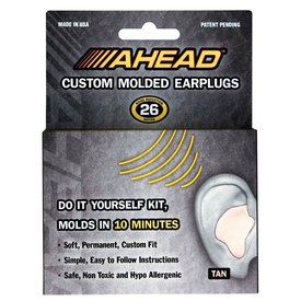Ahead Ahead Custom Molded Ear Plugs (Tan)