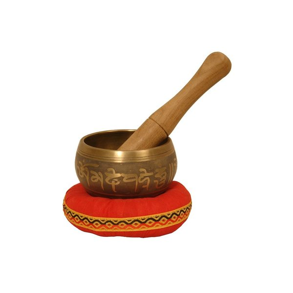 Mid-East Dobani Singing Bowl, Decorated, 3.5 Inch