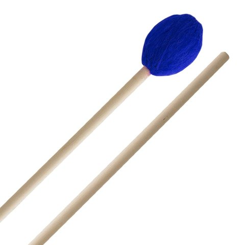 Innovative Percussion Medium Marimba Mallets - Electric Blue Yarn - Birch
