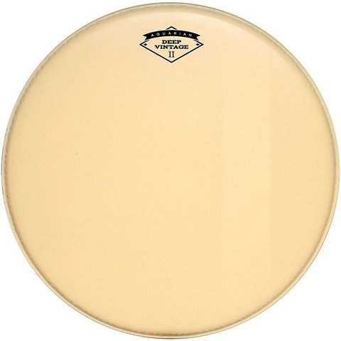 "Aquarian Deep Vintage II 18"" Bass Drumhead with Felt Strip"