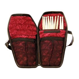 Coffin Case Coffin Drumstick Bag; Red Interior