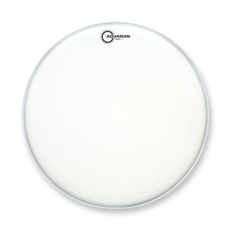 "Aquarian Full Force Series 18"" Bass Drum Batter Head and KP1 Kick Pad - White"