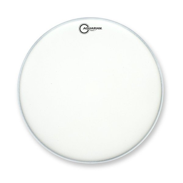 "Aquarian Aquarian Full Force Series 18"" Bass Drum Batter Head and KP1 Kick Pad - White"