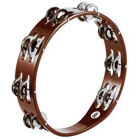 Meinl Meinl Wood Tambourine Steel Jingles 2 Rows African Brown