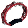 Meinl ABS Hand Held Tambourine Steel Jingles, Red