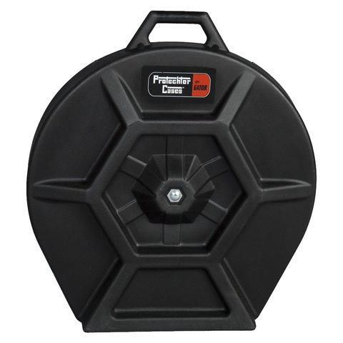 Gator Cymbal Case; Elite Air Series Molded PE; w/ Handle & Wheels
