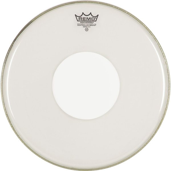"Remo Remo Clear Controlled Sound 10"" Diameter Batter Drumhead - White Dot on Top"