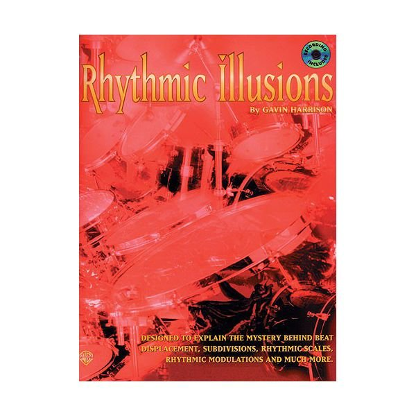 Alfred Publishing Rhythmic Illusions by Gavin Harrison; Book & CD