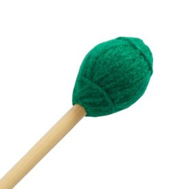 "Mike Balter Mike Balter 12B Ensemble Series 15 3/4"" Medium Hard Green Yarn Marimba/Vibe Mallets with Birch Handles"