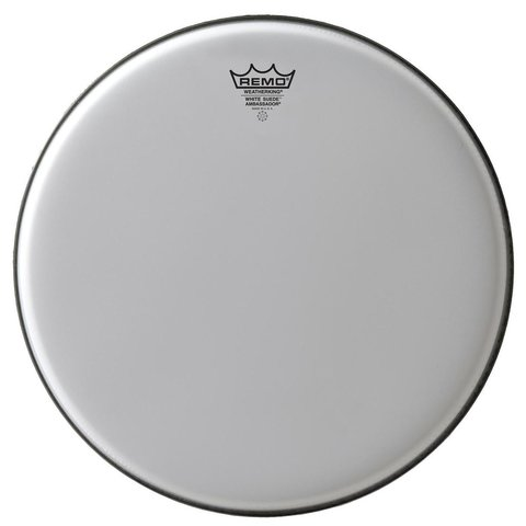 "Remo White Suede Ambassador 12"" Diameter Batter Drumhead"