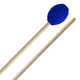 Innovative Percussion Innovative Percussion Medium Hard Marimba Mallets - Electric Blue Yarn - Birch