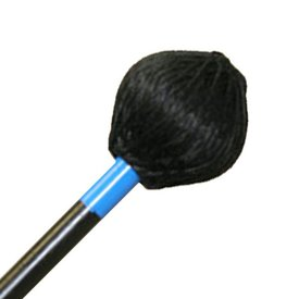 "Mike Balter Mike Balter 223BB Shadow Series 16 1/2"" Medium Black Cord Marimba Mallets with Black Birch Handles"