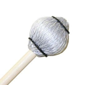 "Mike Balter Mike Balter 25R Pro Vibe Series 14 1/2"" Jazz Silver Cord Marimba/Vibe Mallets with Rattan Handles"