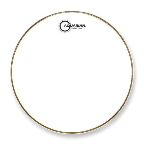 """Aquarian Classic Clear Series 15"""" Drumhead - White"""