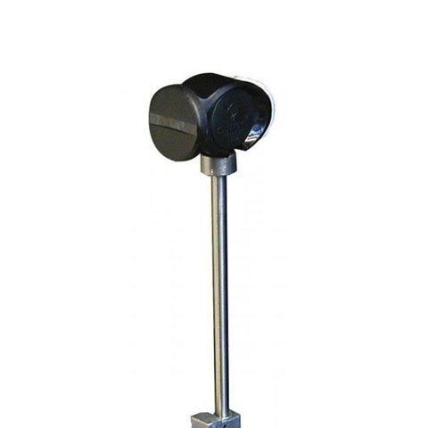Slug Power Head Punch Collar Bass Drum Beater; Black Beater; 0.5 oz. Weighted Steel Tapered Shaft