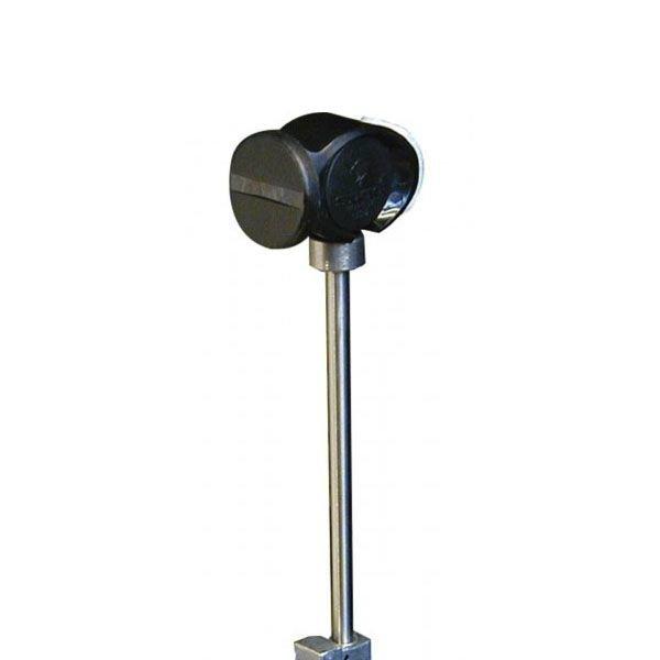 Slug Slug Power Head Punch Collar Bass Drum Beater; Black Beater; 0.5 oz. Weighted Steel Tapered Shaft