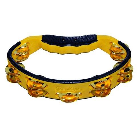 Gon Bops Tambourine, Hand, Yellow Brass