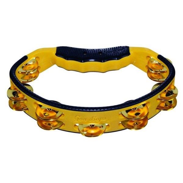 Gon Bops Gon Bops Tambourine, Hand, Yellow Brass