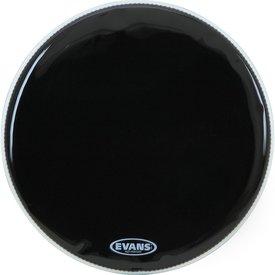 """Evans Evans EQ3 16"""" Black Resonant Bass Drumhead; No Port"""