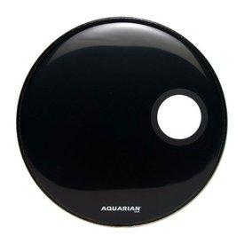 "Aquarian Aquarian Regulator Series Small Hole 22"" Drumhead with Ring - Black"