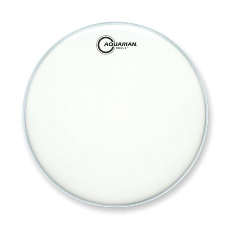 "Aquarian Focus-X Texture Coated 14"" Drumhead - White"
