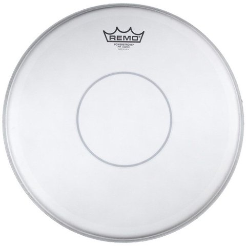 "Remo Coated Powerstroke 77 12"" Diameter Batter Drumhead - Clear Dot"