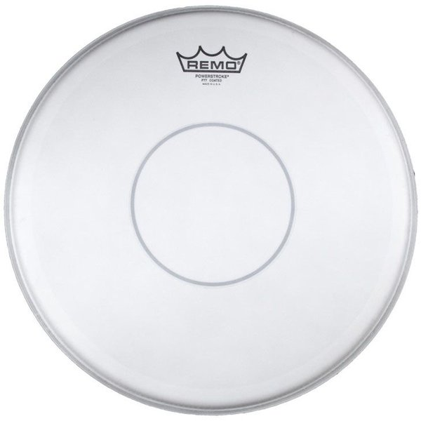 "Remo Remo Coated Powerstroke 77 12"" Diameter Batter Drumhead - Clear Dot"