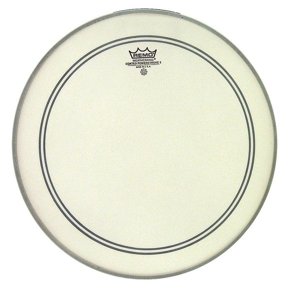 "Remo Remo Coated Powerstroke 3 14"" Diameter Batter Drumhead"