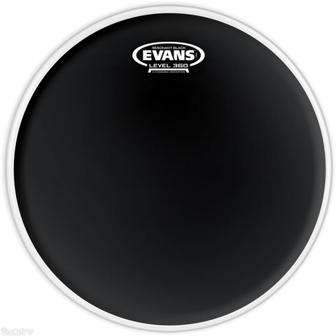 "Evans Resonant Black 18"" Tom Drumhead"