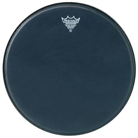 """Remo Black Suede Emperor 15"""" Diameter Batter Drumhead"""