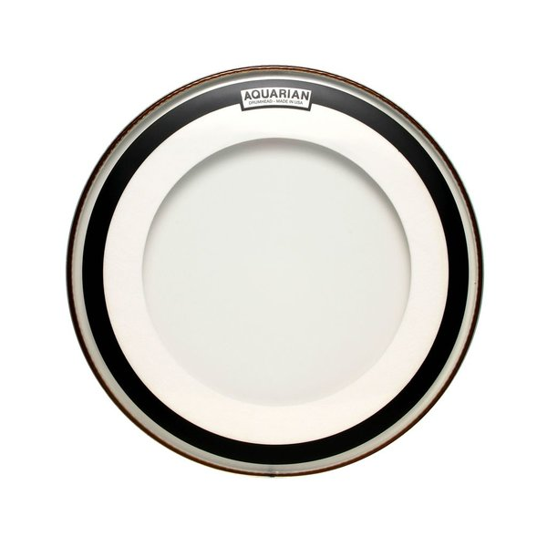 "Aquarian Aquarian Impact I Series 22"" (1-Ply) Drumhead with Ring - Clear"