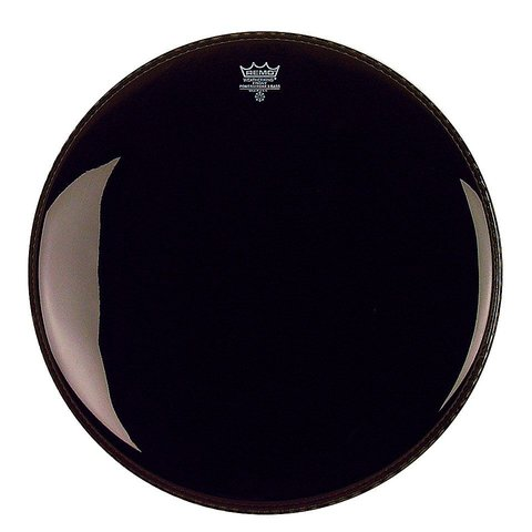 "Remo Ebony Powerstroke 3 16"" Diameter Bass Drumhead with 5"" Black Dynamo"