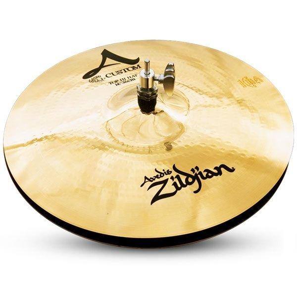 """Zildjian A Custom 14"""" Hi Hat Cymbals Brilliant"""